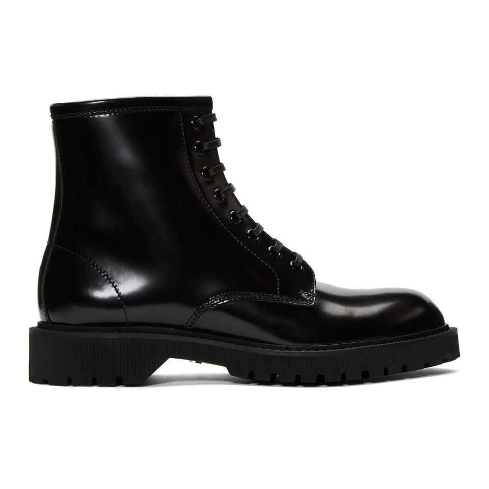 Saint Laurent Liverpool combat boots
