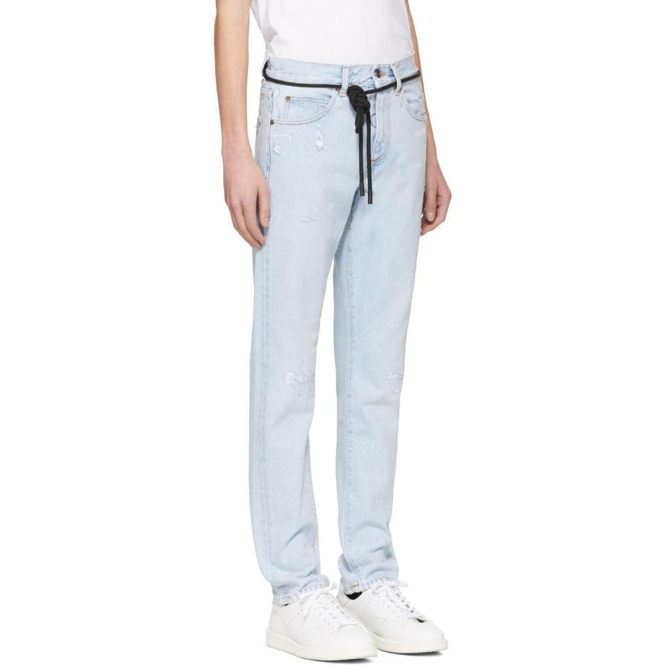 3f0180db86a4 Lyst - Off-White c o Virgil Abloh Blue Temperature Slim Jeans in ...