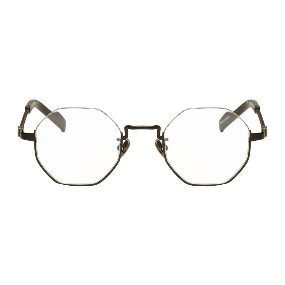 545dcd257c Lyst - Yohji Yamamoto Black Hexagonal Glasses in Black for Men