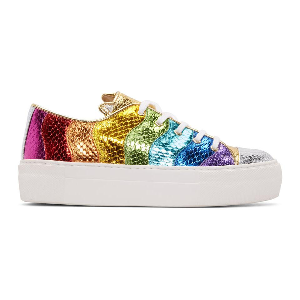 Charlotte Olympia Multicolor Metallic Purrfect Sneakers BzVVz2ORz