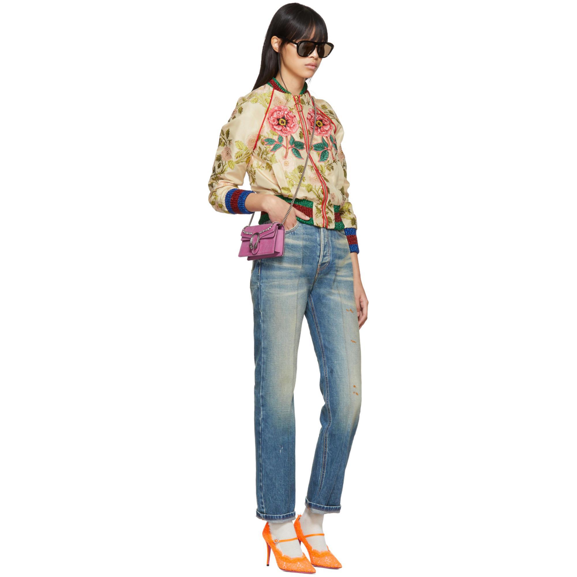 Lyst - Gucci Pink Velvet Super Mini Dionysus Bag in Pink e9dda54eb7b