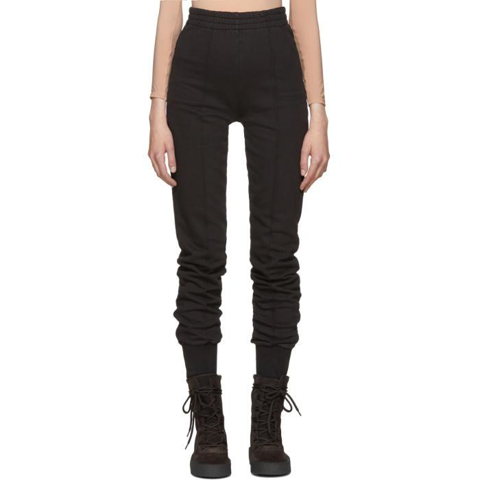 6bd13904fca69 Lyst - Yeezy Black Pintuck Sweatpants in Black