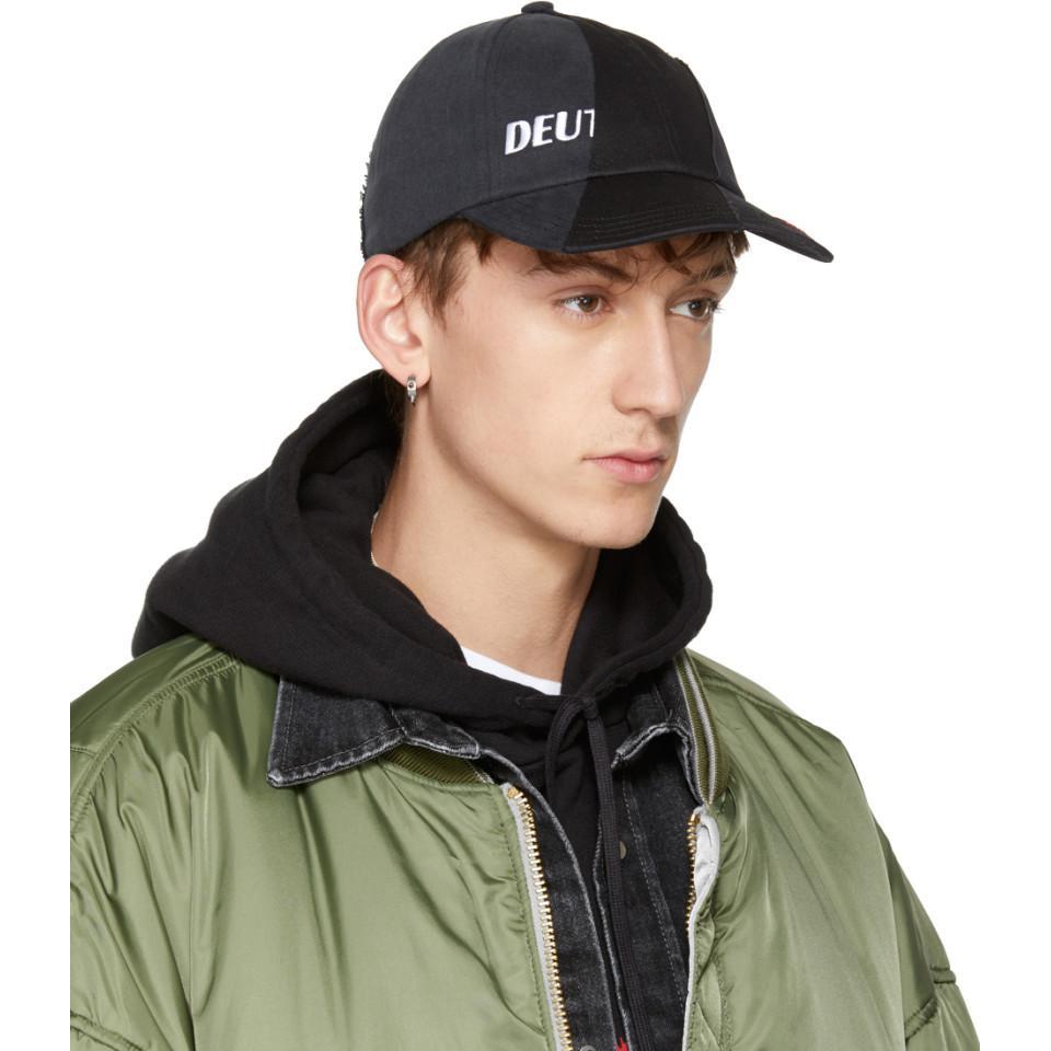 6d44a452468f52 Vetements Black Reebok Edition Reworked Cap in Black for Men - Lyst
