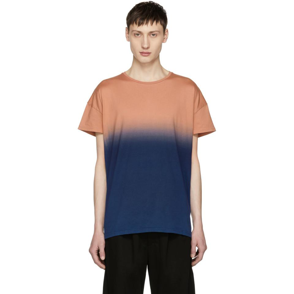 Orange and Navy Gradation T-Shirt Diet Butcher Slim Skin Countdown Package For Sale Discount The Cheapest New Cheap Online Free Shipping Recommend Buy Cheap Sale BGZ242baA