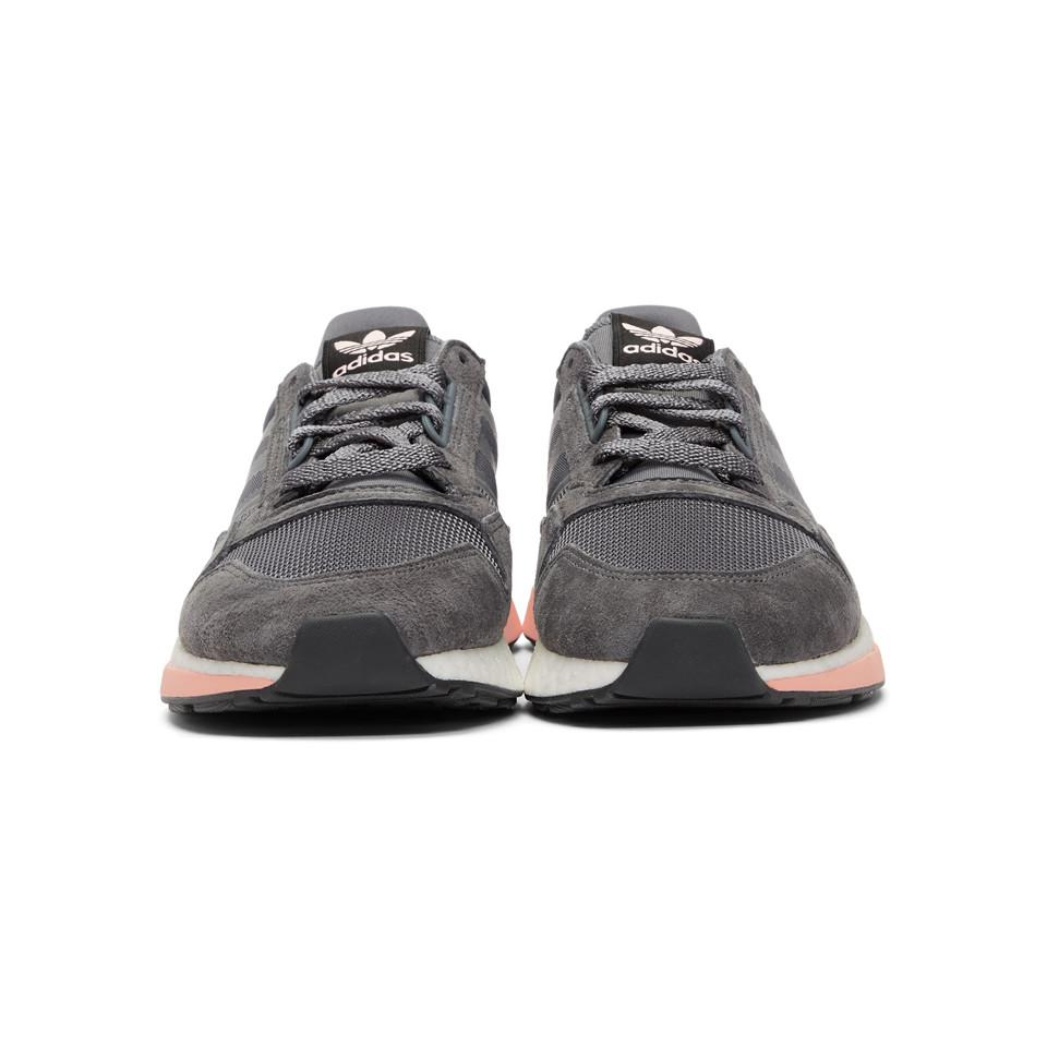 1320912b25dd Lyst - adidas Originals Grey And Pink Zx 500 Rm Sneakers in Gray for Men
