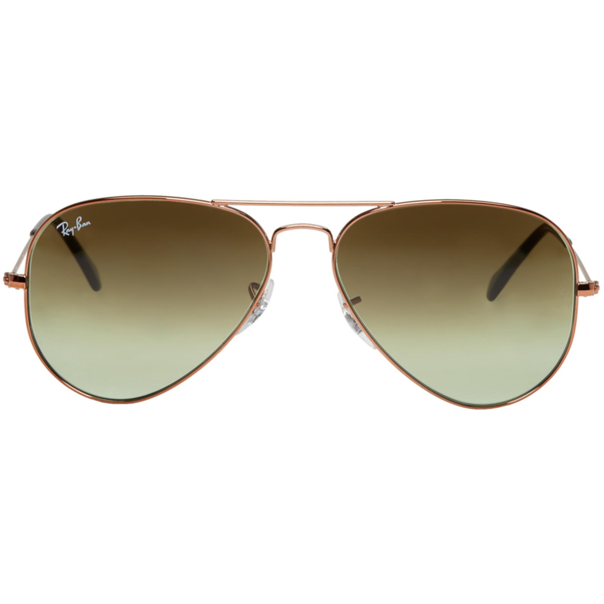 ecc7edb3cd Lyst - Ray-Ban Bronze   Green Gradient Aviator Sunglasses in ...