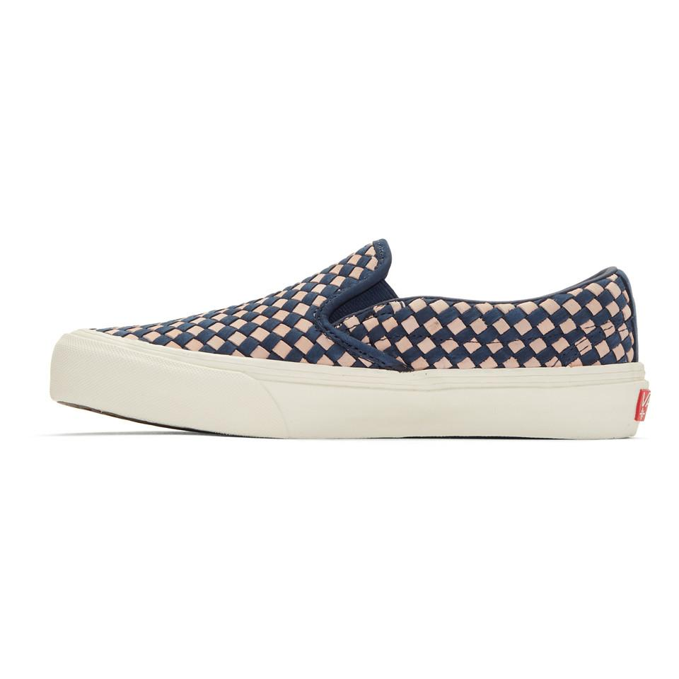 Navy and Pink Taka Hayashi Edition Slip-On 66 LX Sneakers Vans wNlW2E8A
