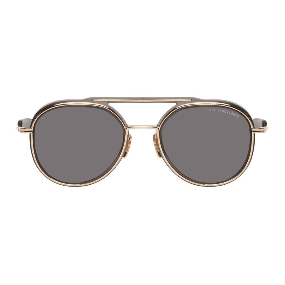 e61f321c409a Dita Grey And Gold Spacecraft Sunglasses in Gray for Men - Lyst