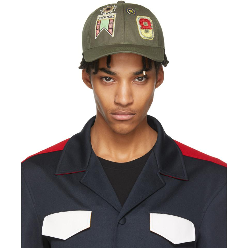 Lyst - Valentino Khaki Garavani Embroidered Cap for Men 1169c4ffd000