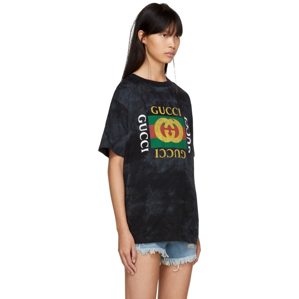 4aff6fb4 Gucci Black 'loved' 'vintage ' T-shirt in Black - Lyst