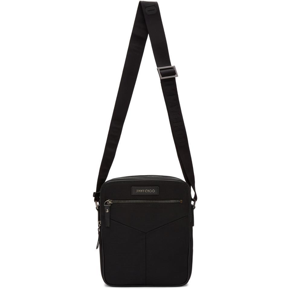 Jimmy Choo Black Blaine Crossbody Messenger Bag in Black for Men - Lyst e154d3842d9b8