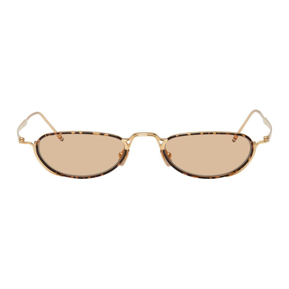 cac8d879092b Lyst - Thom Browne Gold Tb-913 Sunglasses in Metallic for Men