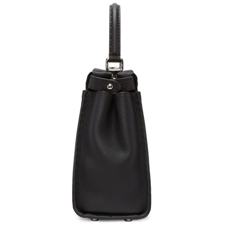 25adf8d09b3 Lyst - Sac noir Regular Selleria Peekaboo Fendi en coloris Noir