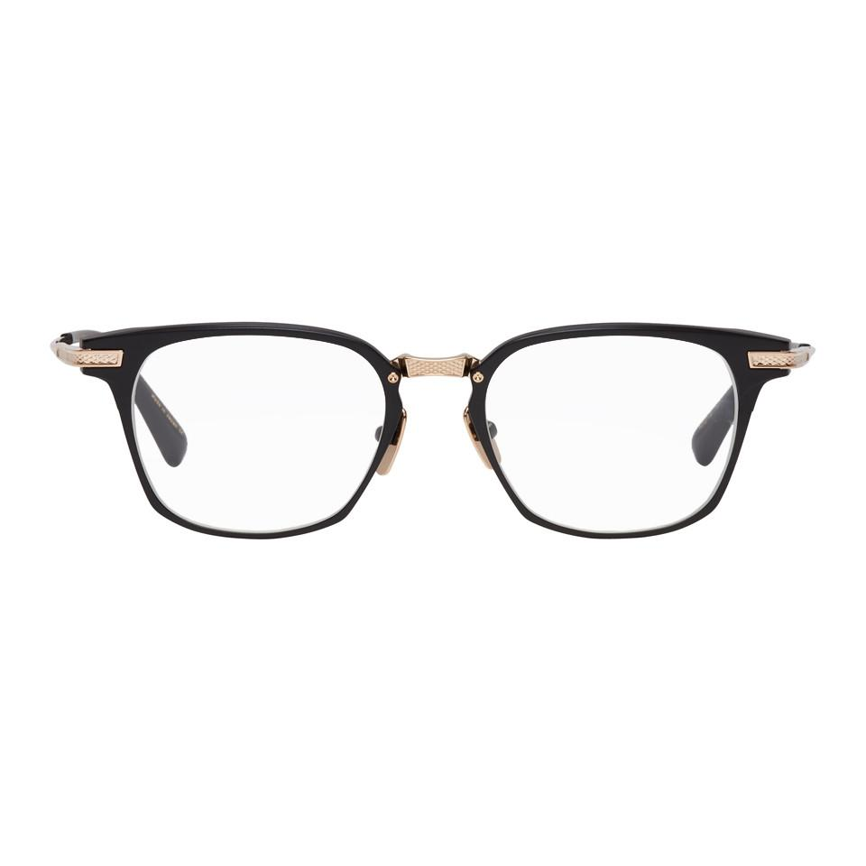 60b698df0e81 Lyst - DITA Black And Gold Matte Union Glasses in Black for Men