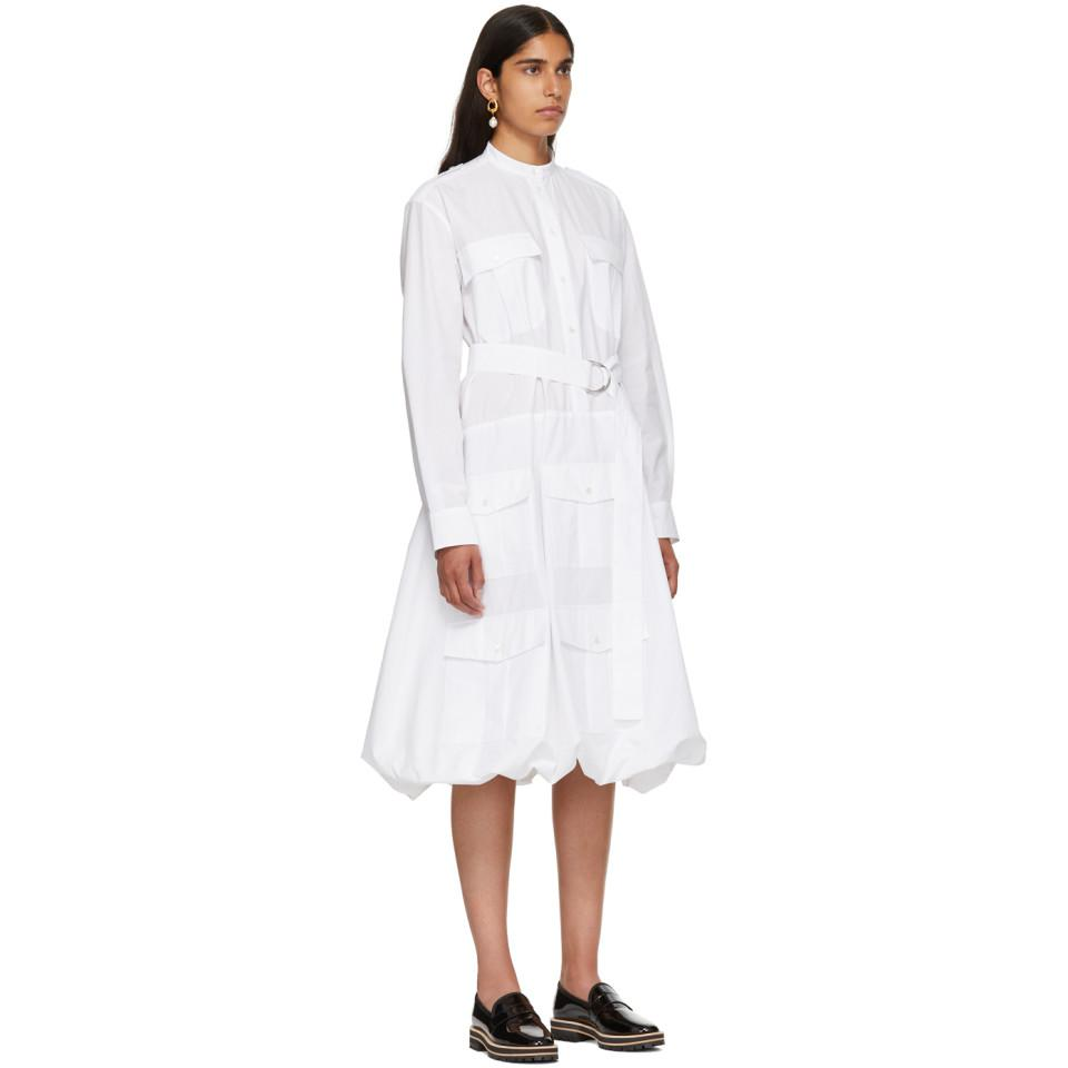Outlet Manchester Great Sale White Multi-Pocket Shirt Dress J.W.Anderson Outlet Official Site Cheap Visit KFZJeOXiGl