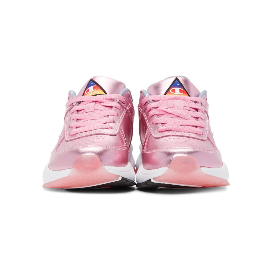 11d3fd61075 Lyst - Champion Pink 93eighteen Metallic Sneakers in Pink - Save 66%