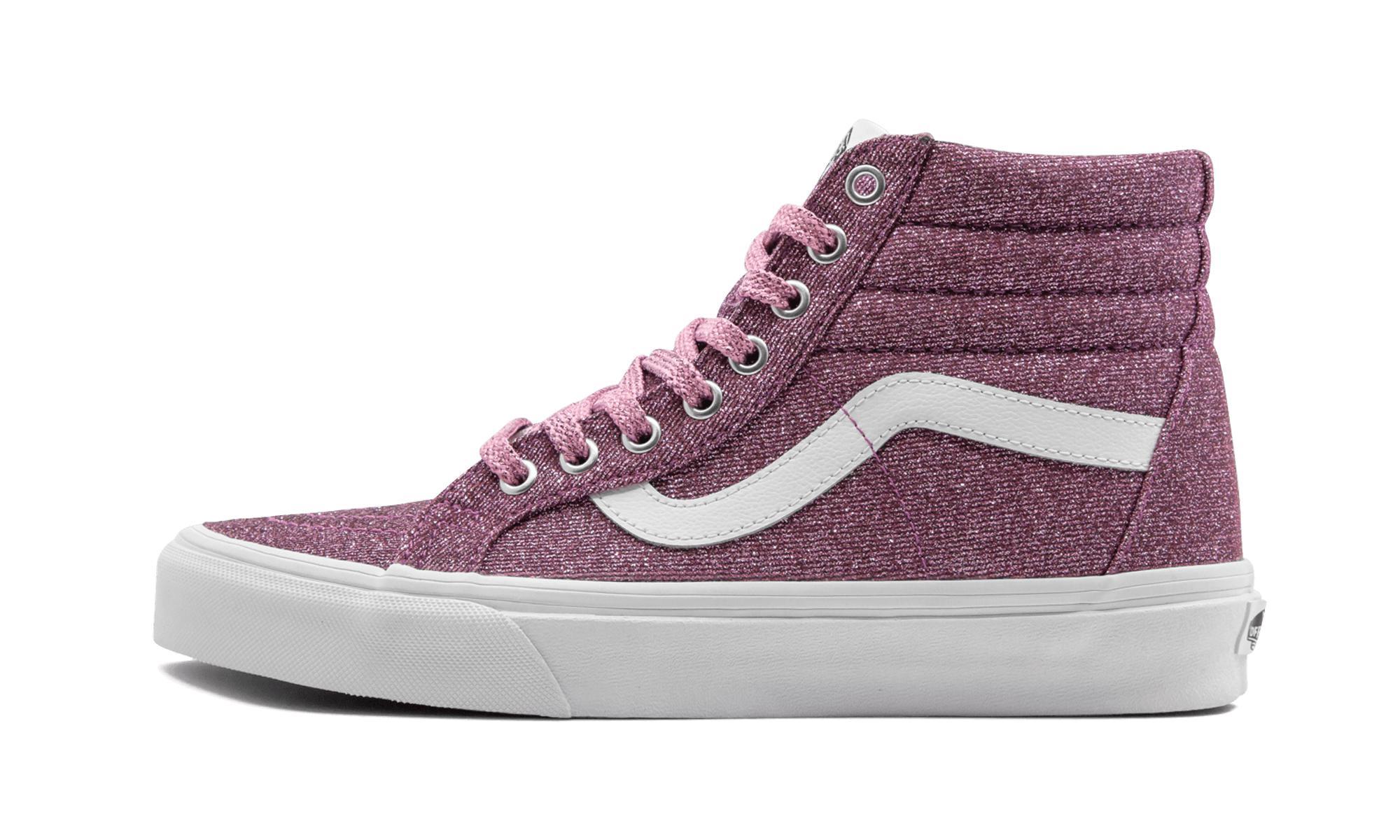 446d4324bc Vans Sk8-hi Reissue (lurex Glitter) in Pink - Lyst