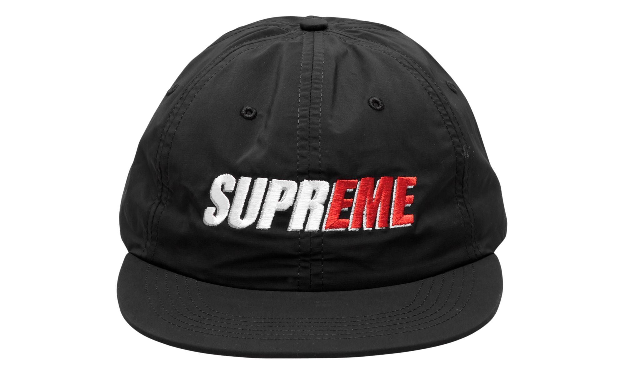 ea515a14 Supreme 2-tone Nylon 6-panel in Black for Men - Lyst