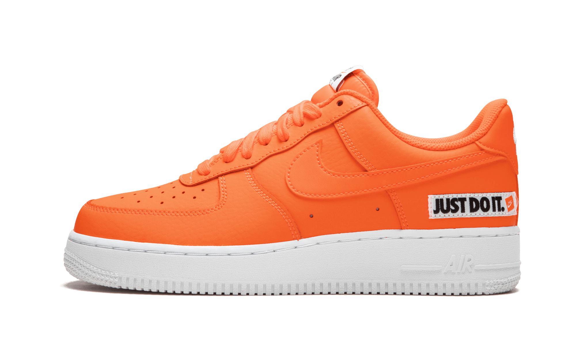 e80f11a8fe0a Nike Air Force 1  07 Lv8 Jdi Lthr in Orange - Lyst