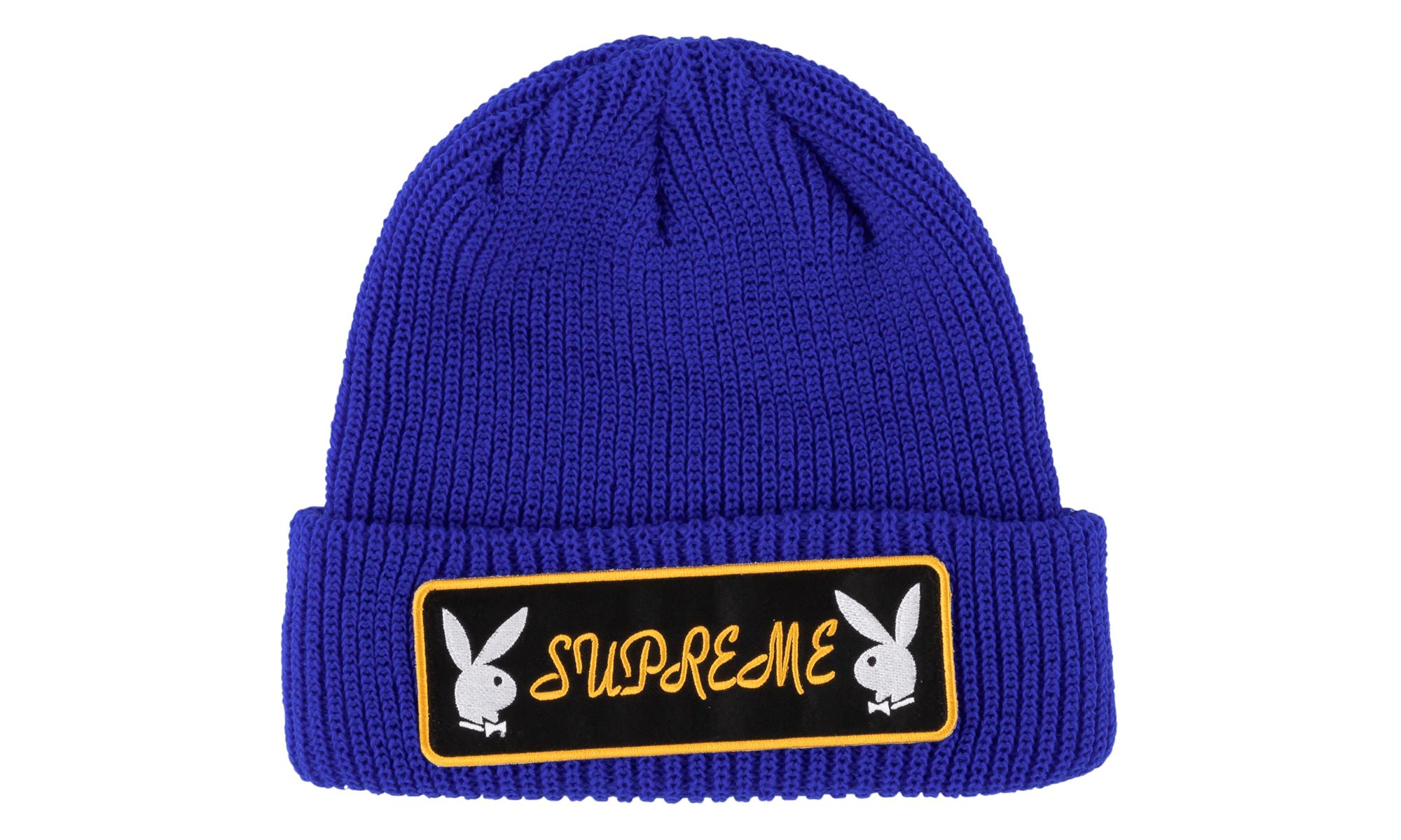 57727b090 Lyst - Supreme Playboy Patch Beanie in Blue for Men
