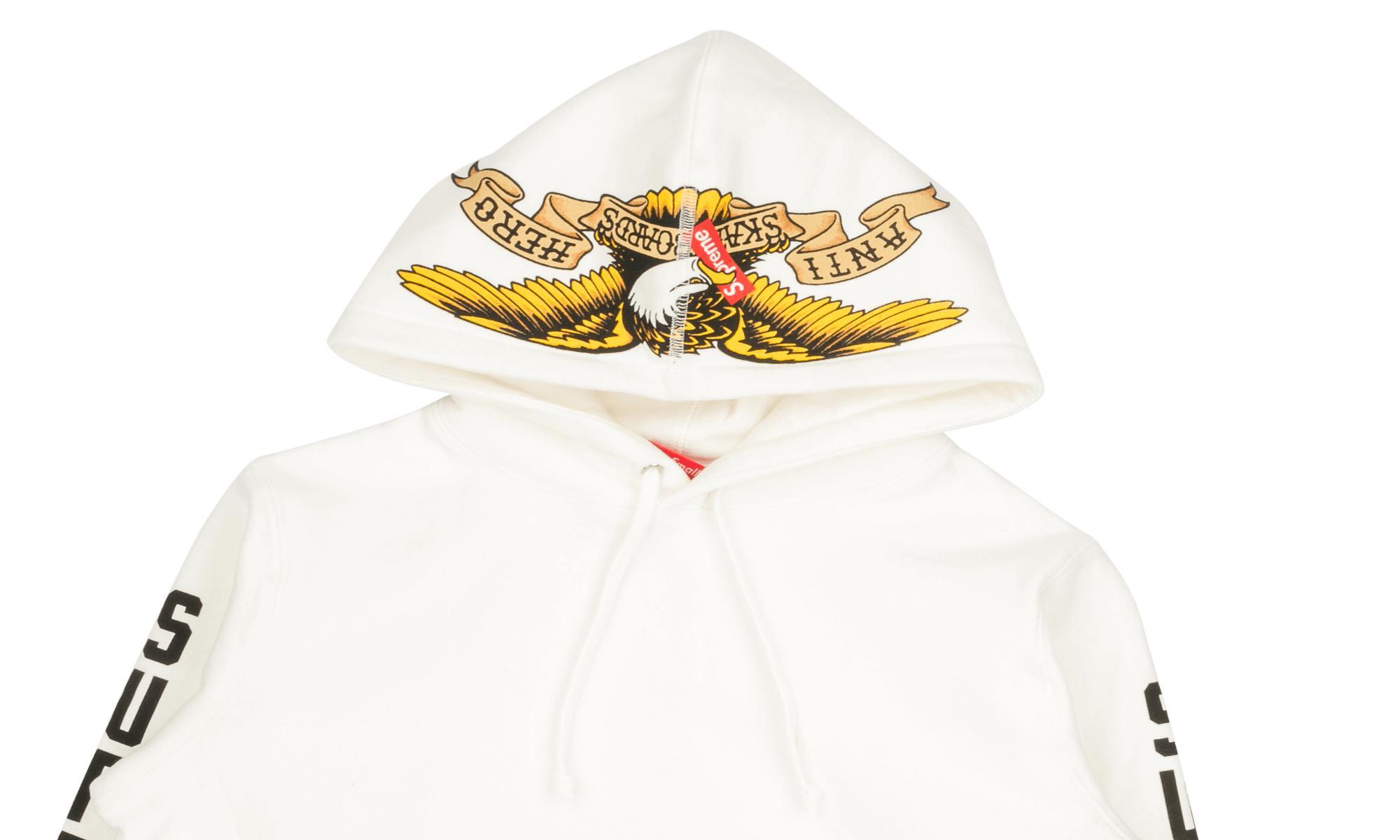 b0d0a1c9cfbd Lyst - Supreme Anti Hero Hooded Sweatshirt in White for Men