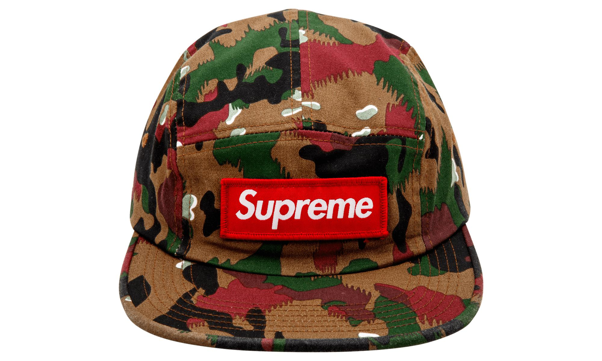 d5d00616599 Lyst - Supreme Military Camp Cap in Green for Men