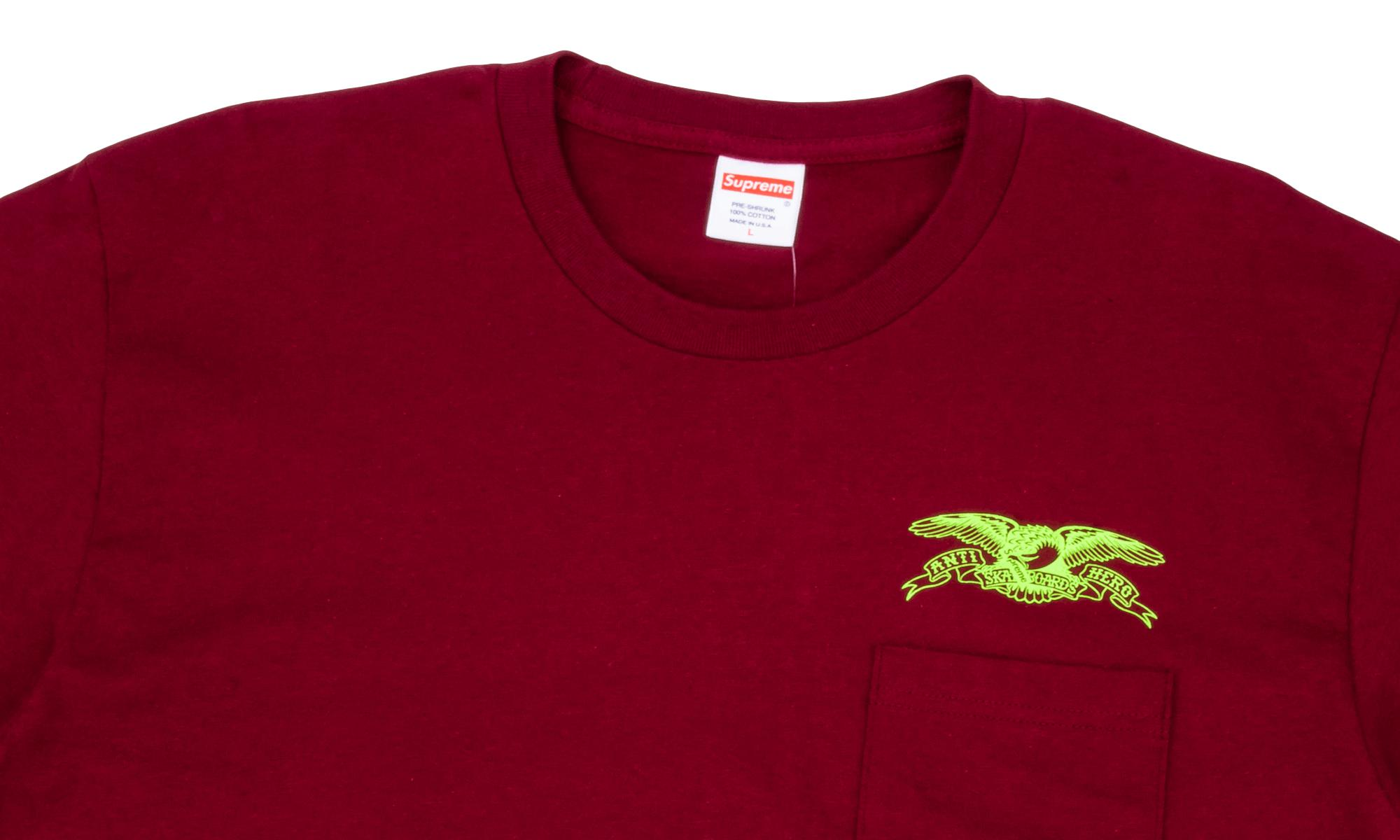 57260c41 Supreme Anti Hero Eagle Pocket Tee in Red for Men - Lyst