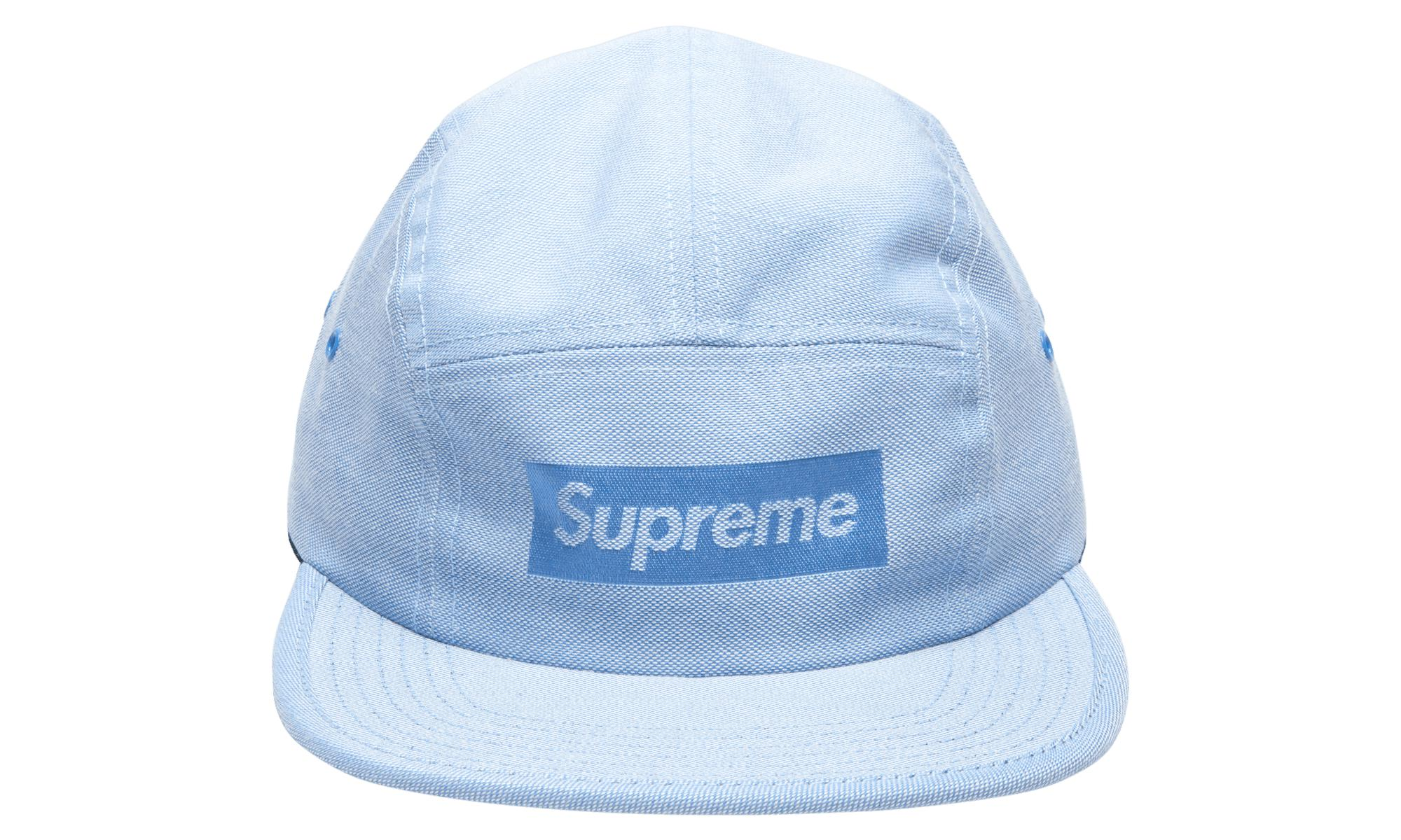 09d2becb Supreme Jacquard Box Logo Camp Cap in Blue for Men - Lyst