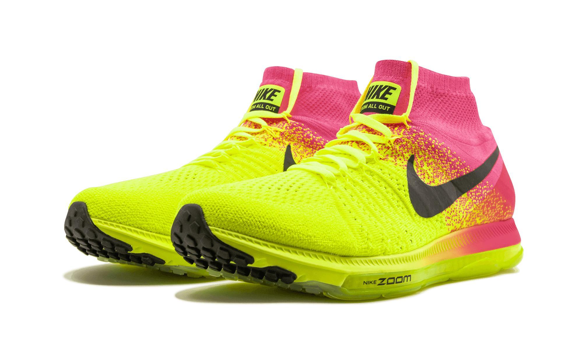 bb54b2279a850 Nike - Yellow Zoom All Out Flyknit Oc - Lyst. View fullscreen