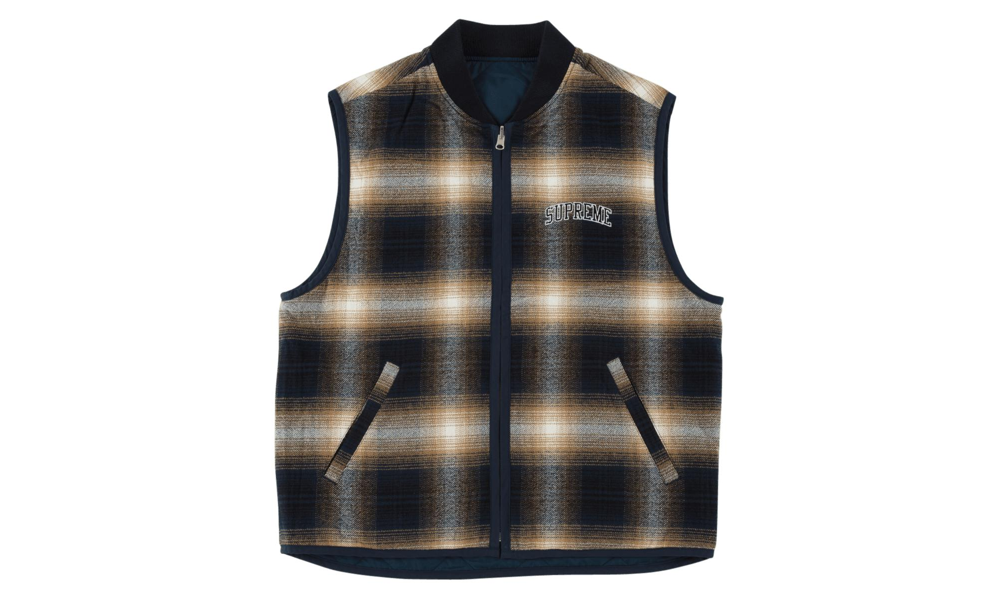 adf4159c Supreme - Blue Reversible Shadow Plaid Vest for Men - Lyst. View fullscreen