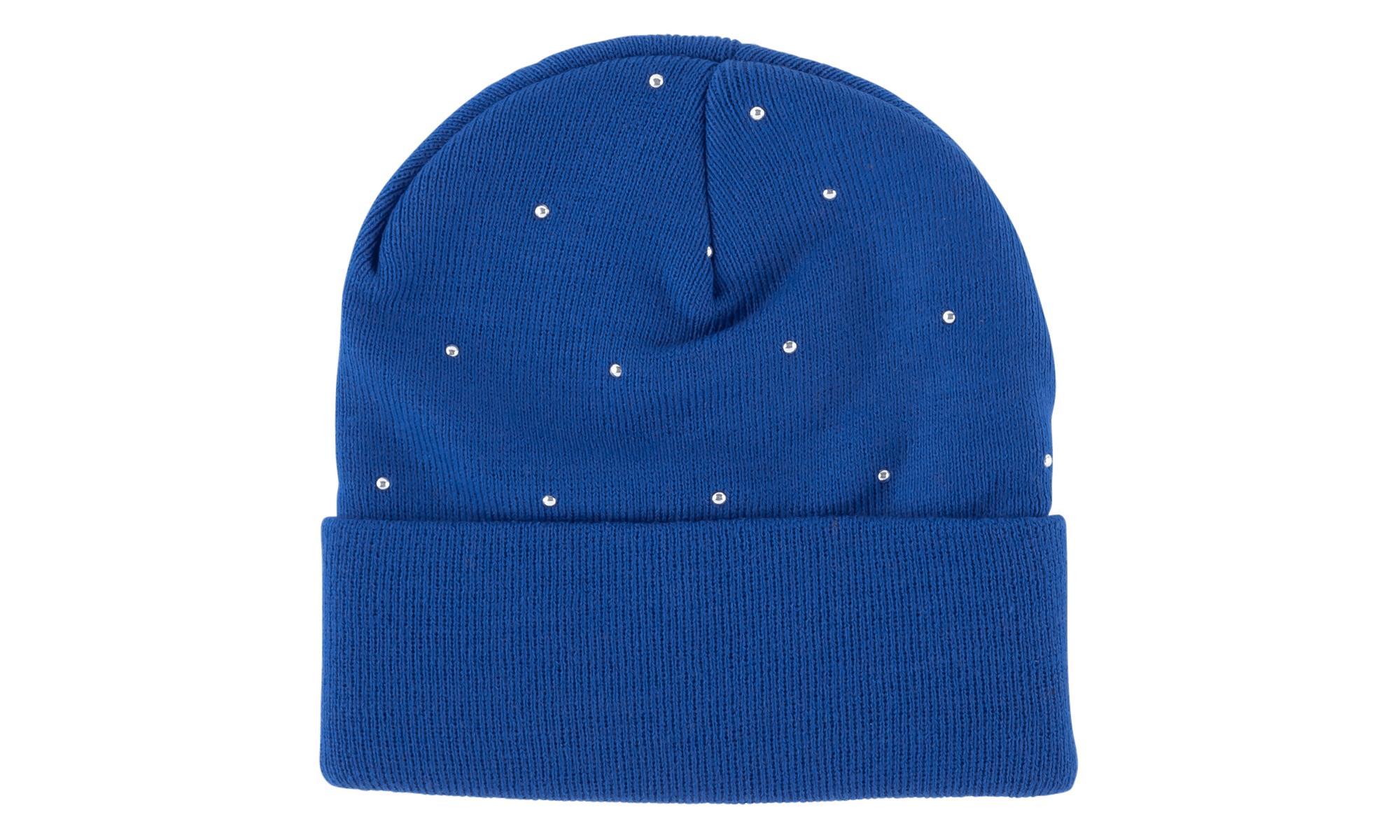 7347a51ee83 Supreme - Blue Studded Beanie - Lyst. View fullscreen