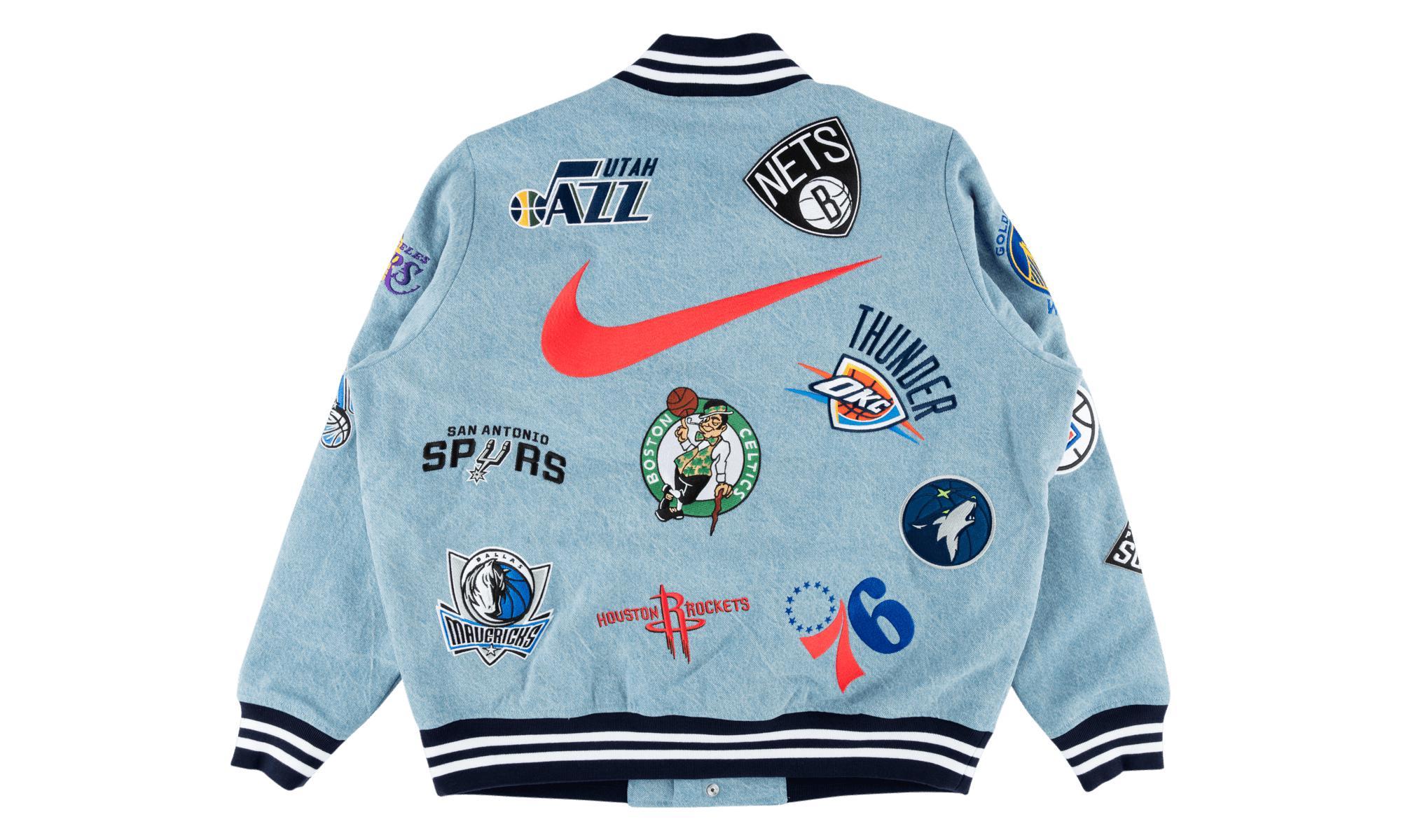 Supreme - Blue Nike nba Teams Warm-up Jacket Denim for Men - Lyst. View  fullscreen 0bb1a4f3e