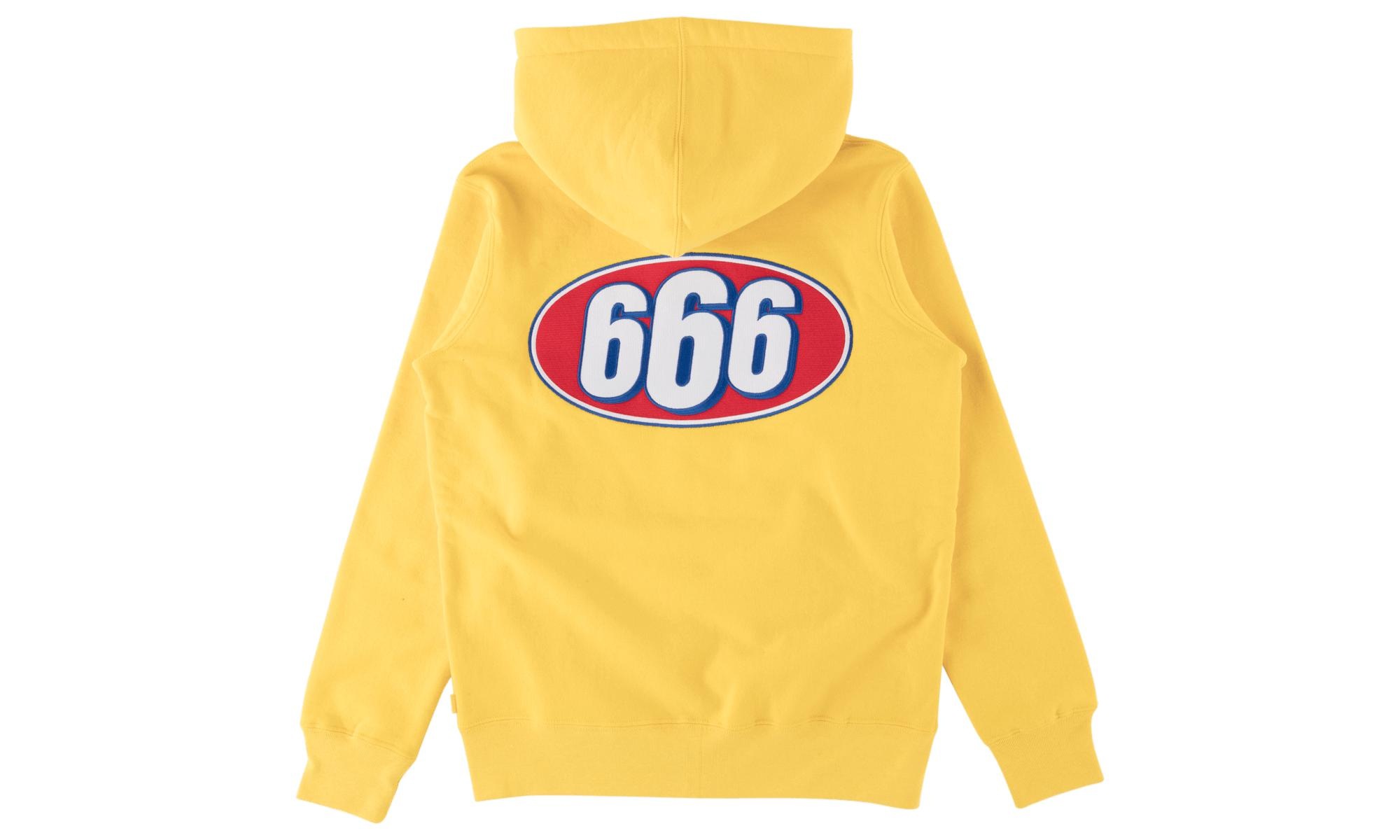 7d14e7d7105e Supreme 666 Zip-up Sweatshirt in Yellow for Men - Save 8% - Lyst