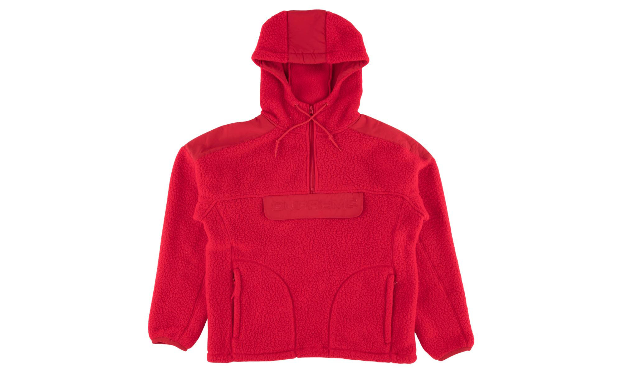 d15ce62c Supreme Polartec Hooded Half Zip Pullo in Red for Men - Lyst
