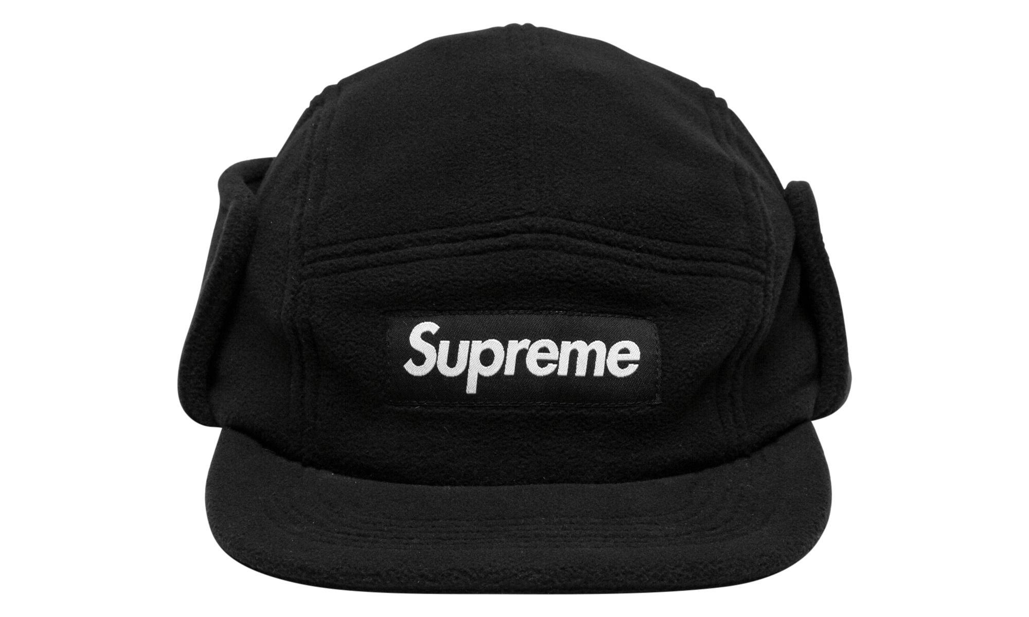 8f192698554 Supreme - Black Polartec Fleece Earflap Camp Cap for Men - Lyst. View  fullscreen