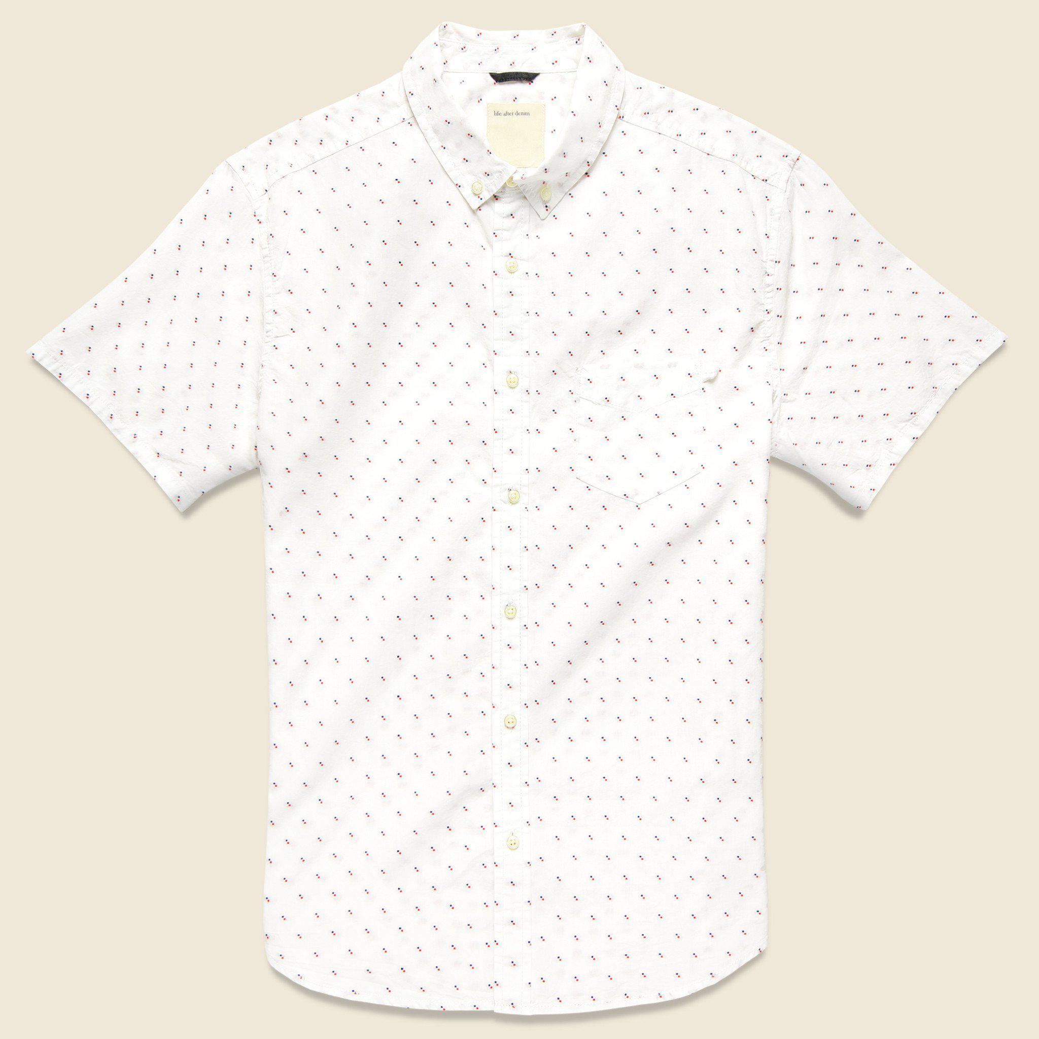 Lyst - Life After Denim Dobby Clipper Shirt - White in White for Men 1b9ea38fd