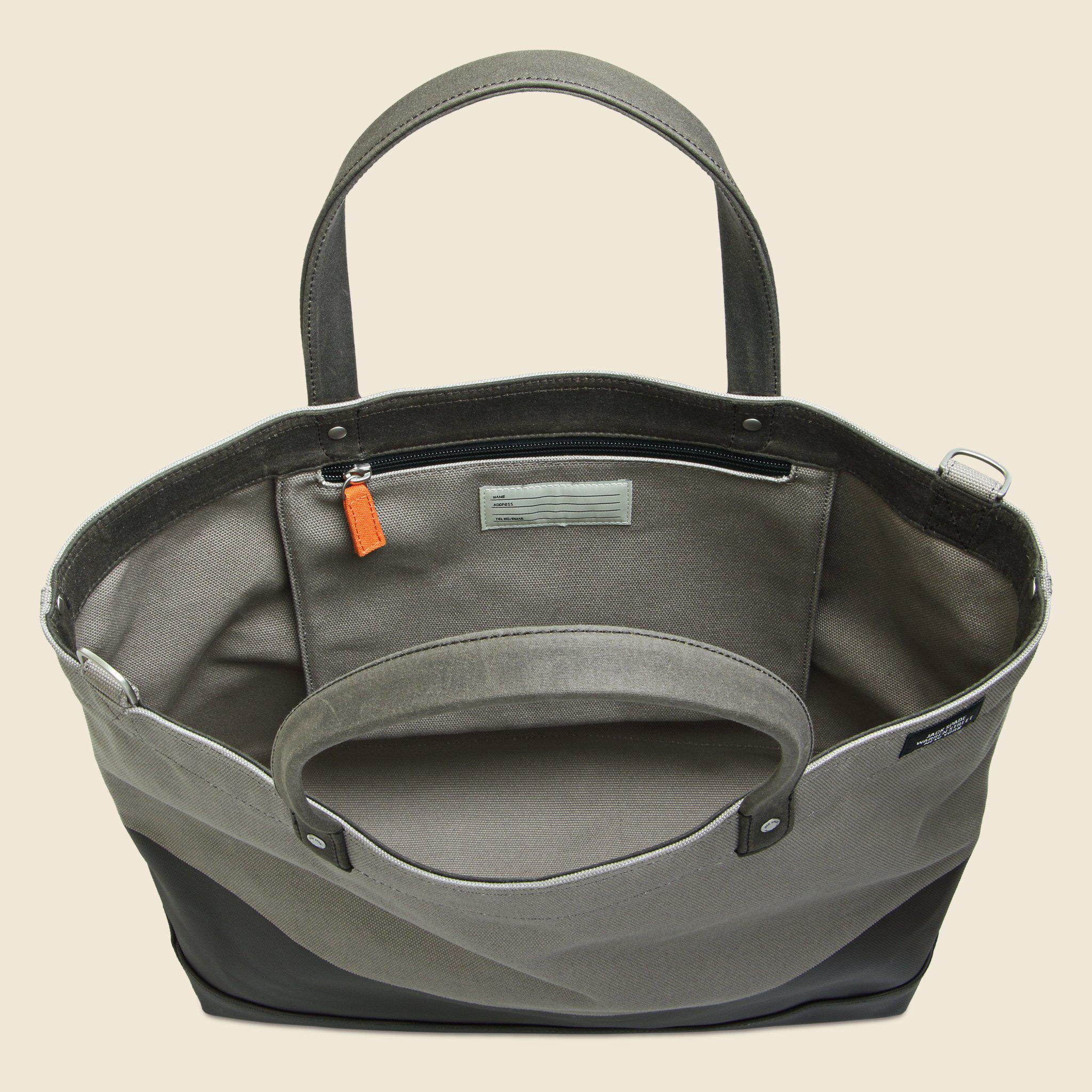 bc75e24aa Jack Spade Dipped Industrial Canvas Coal Bag - Granite/brown in ...