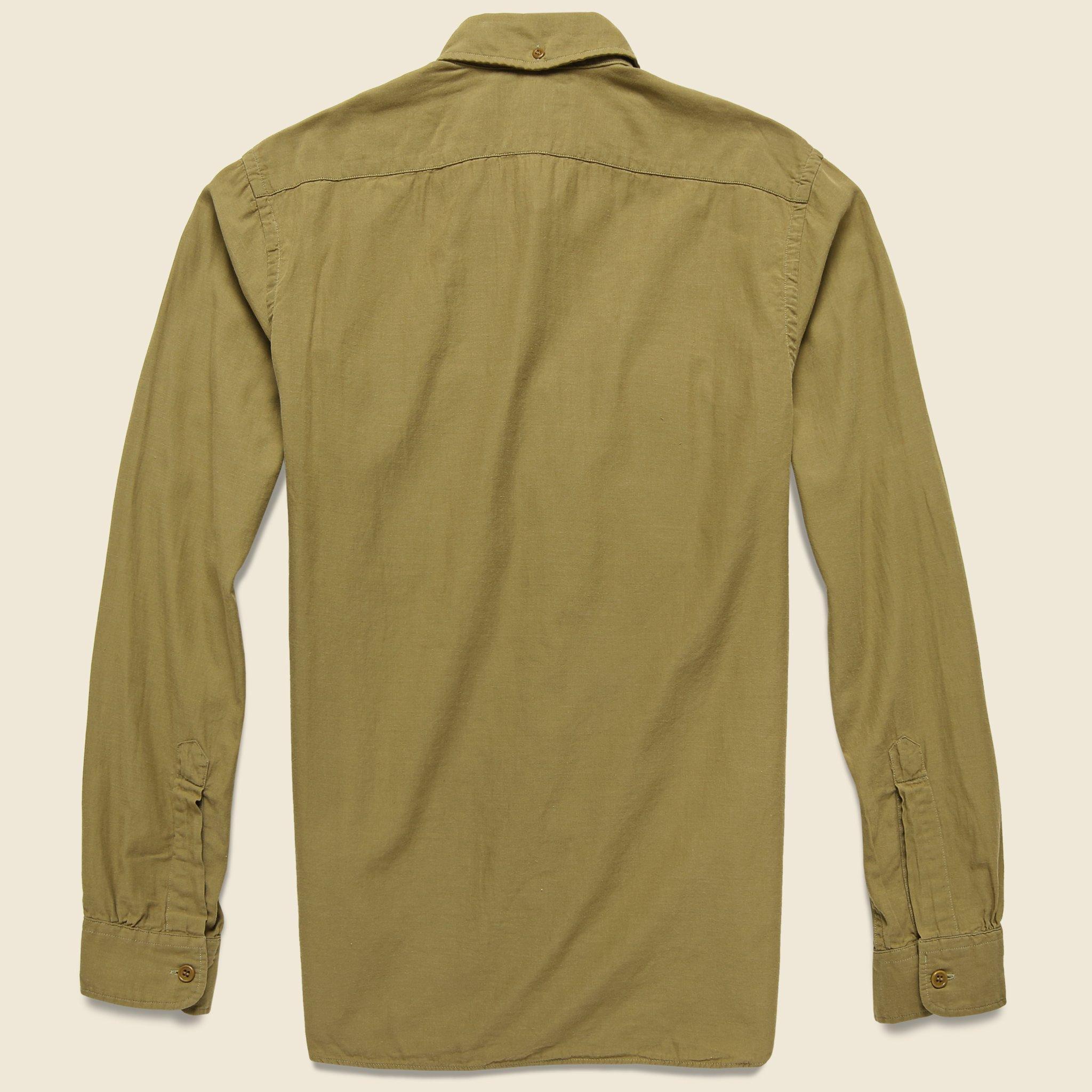 b0c1ac34 RRL Clayton Sateen Military Shirt - Desert Tan in Green for Men - Lyst