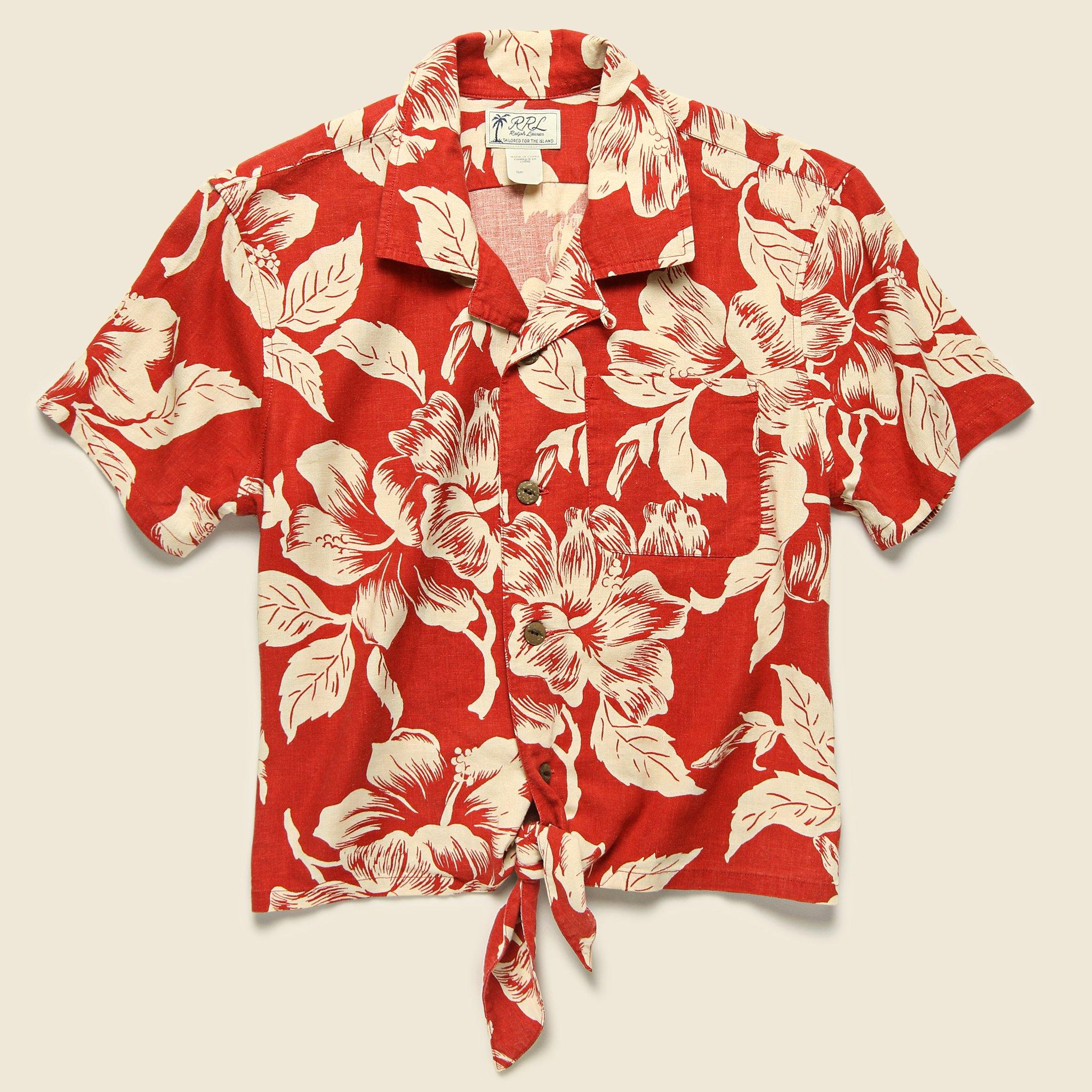 51d68ac0 Lyst - RRL Laura Aloha Shirt - Red/cream in Red for Men