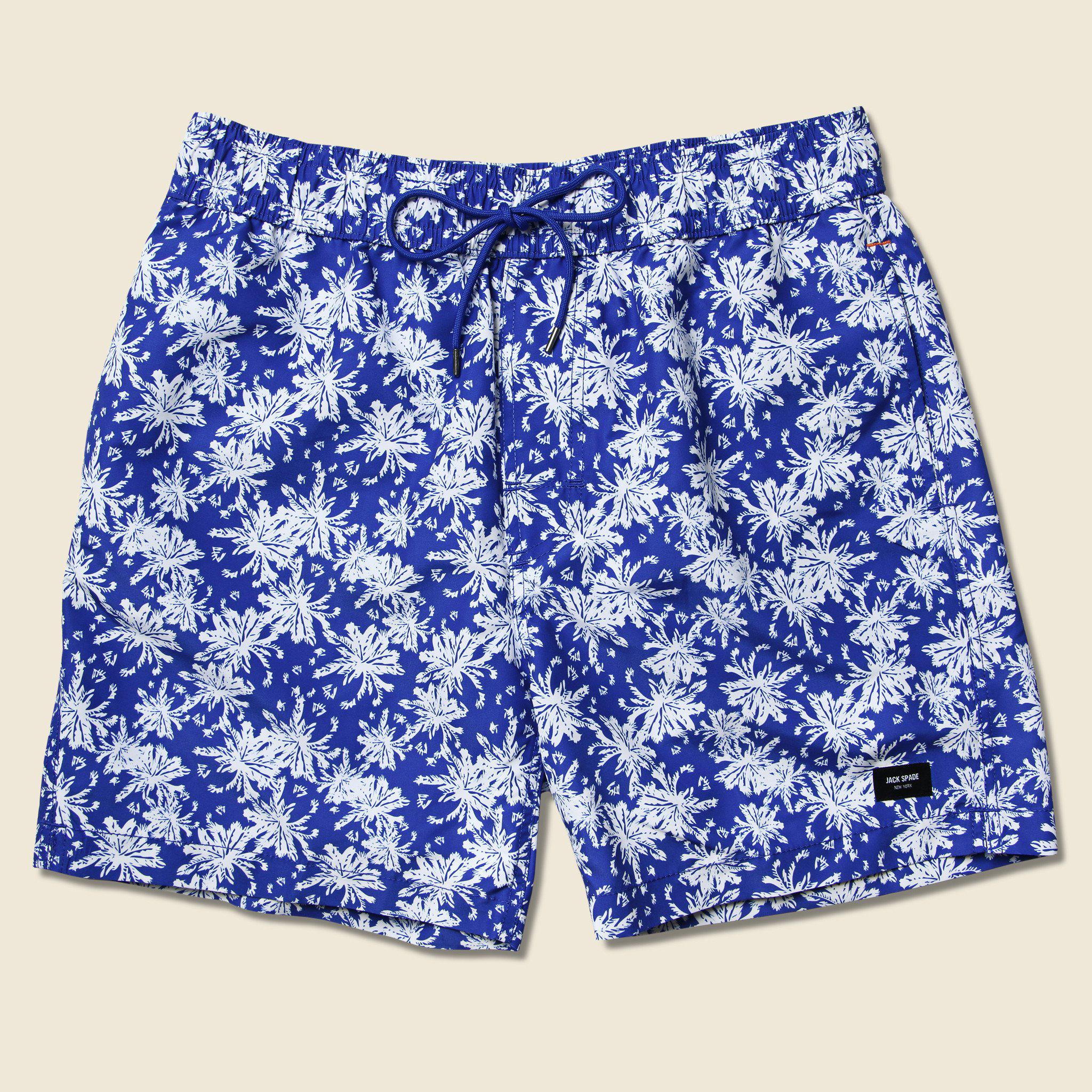 c34d15f7dbb87 Lyst - Jack Spade Floral Grannis Swim Trunk - Blue in Blue for Men