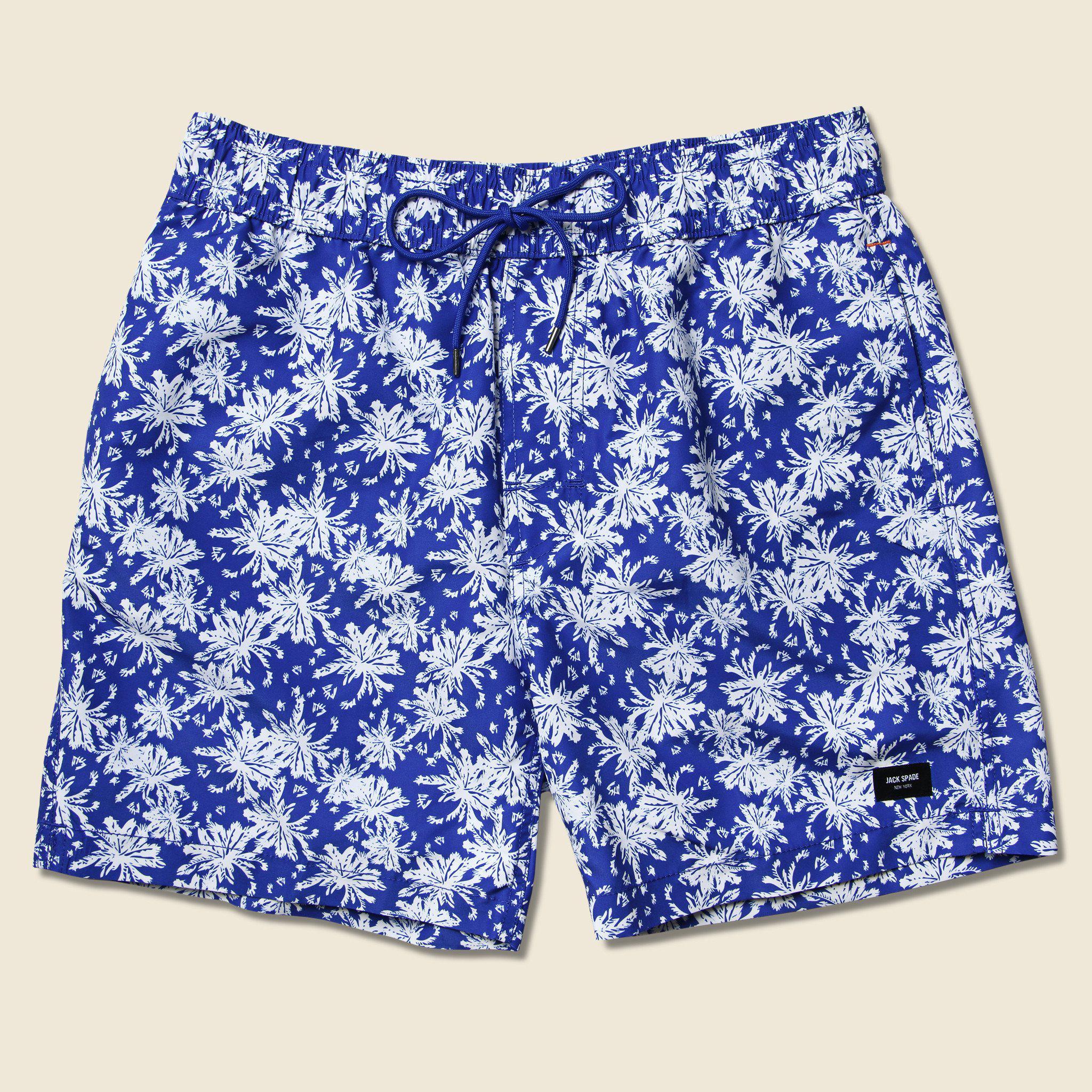 6140eaf39e Lyst - Jack Spade Floral Grannis Swim Trunk - Blue in Blue for Men