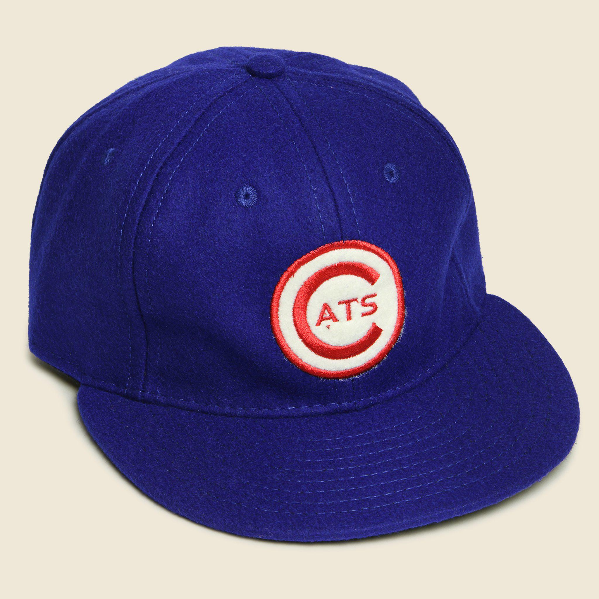 Ebbets Field Flannels. Men s Fort Worth Cats Baseball Cap - Blue. From   49.00. View size guide. One Size 935bdf05cdb9