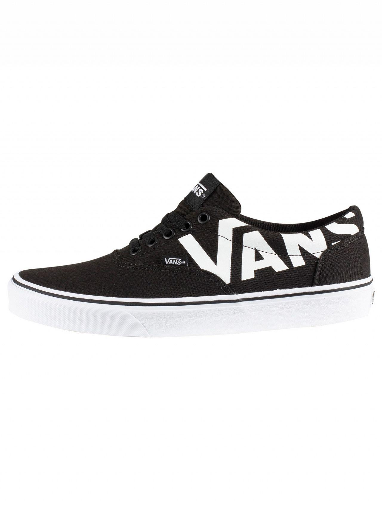 31393f56ac5bb3 Lyst - Vans Black white Doheny Big Logo Trainers in Black for Men