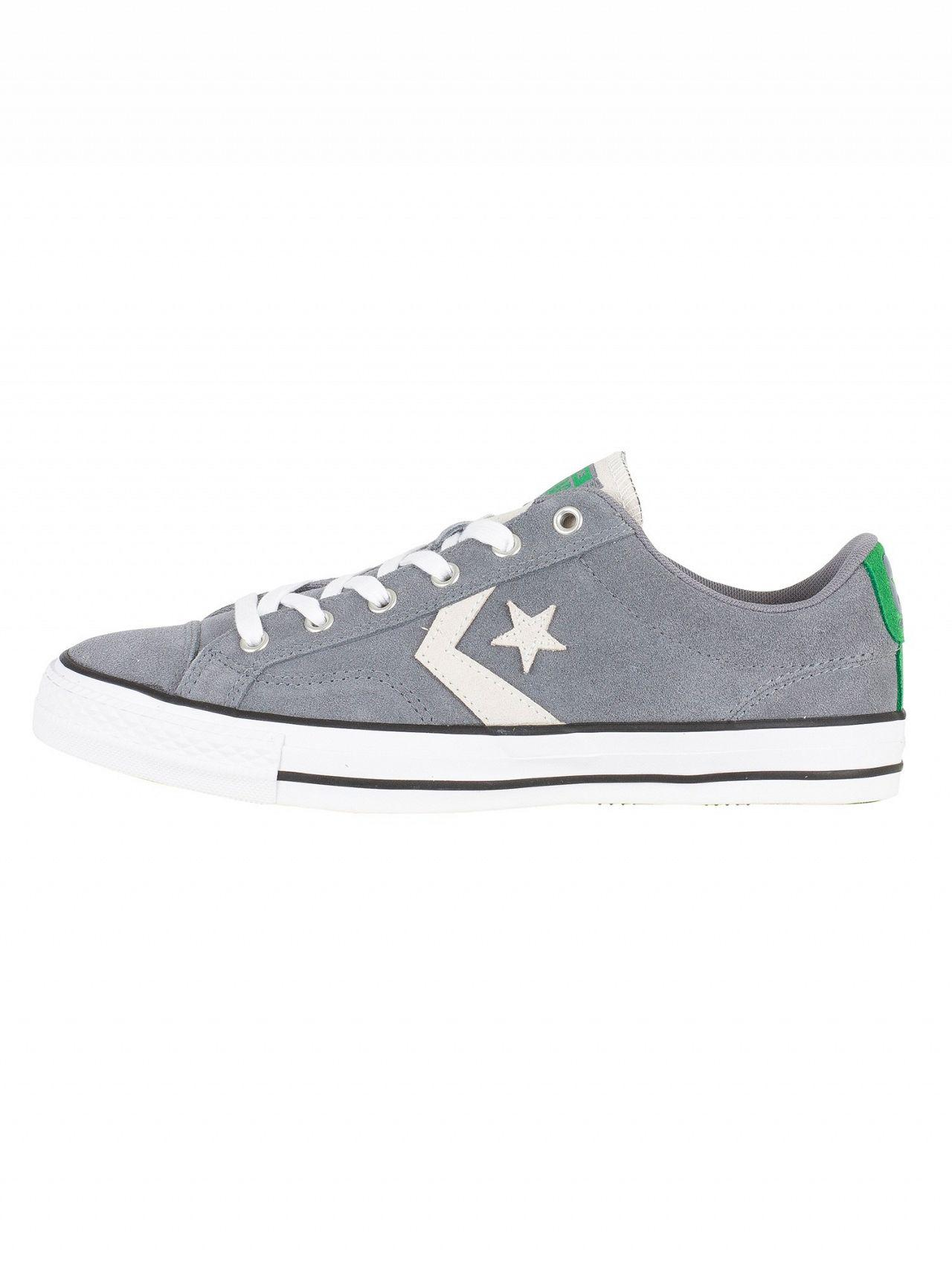 cf9bd9a8b5a731 ... black image 82a3f 2f8d9  get converse gray cool grey white star player  ox suede trainers for men lyst. view