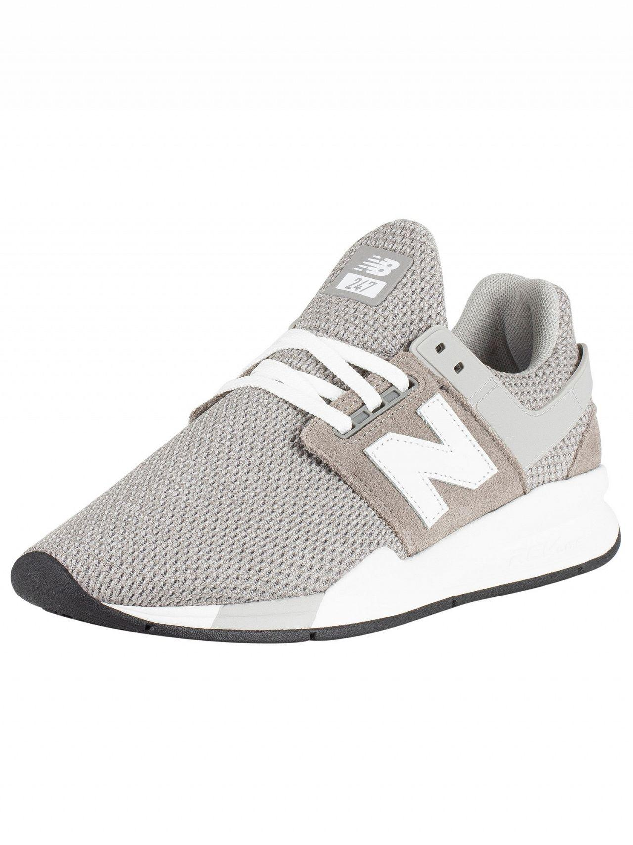 666f2c450c4dd Lyst - New Balance Grey/white 247 Textured Trainers in Gray for Men