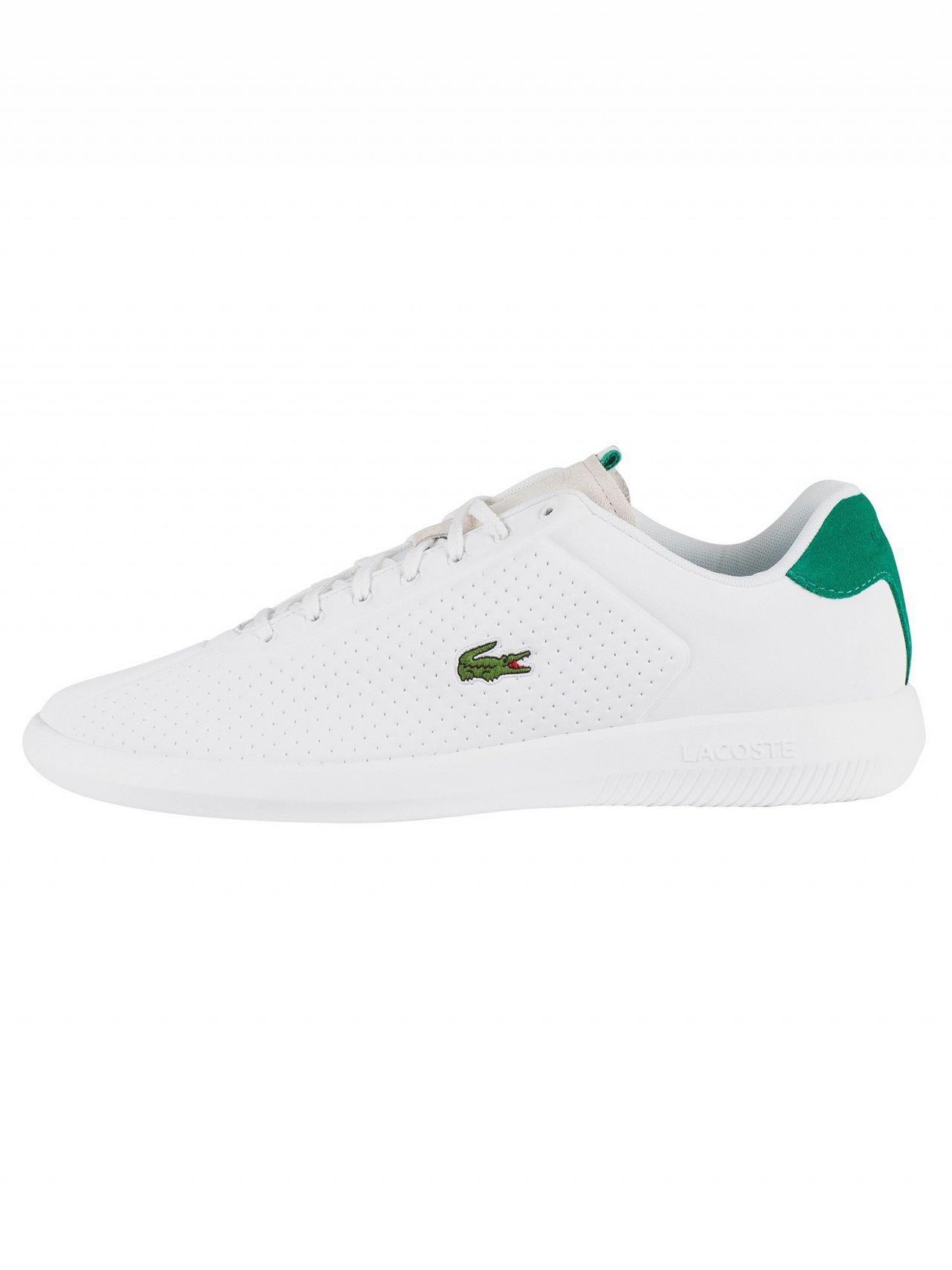 63cdb17d9501f Lyst - Lacoste White green Avance 119 1 Sma Trainers in White for Men