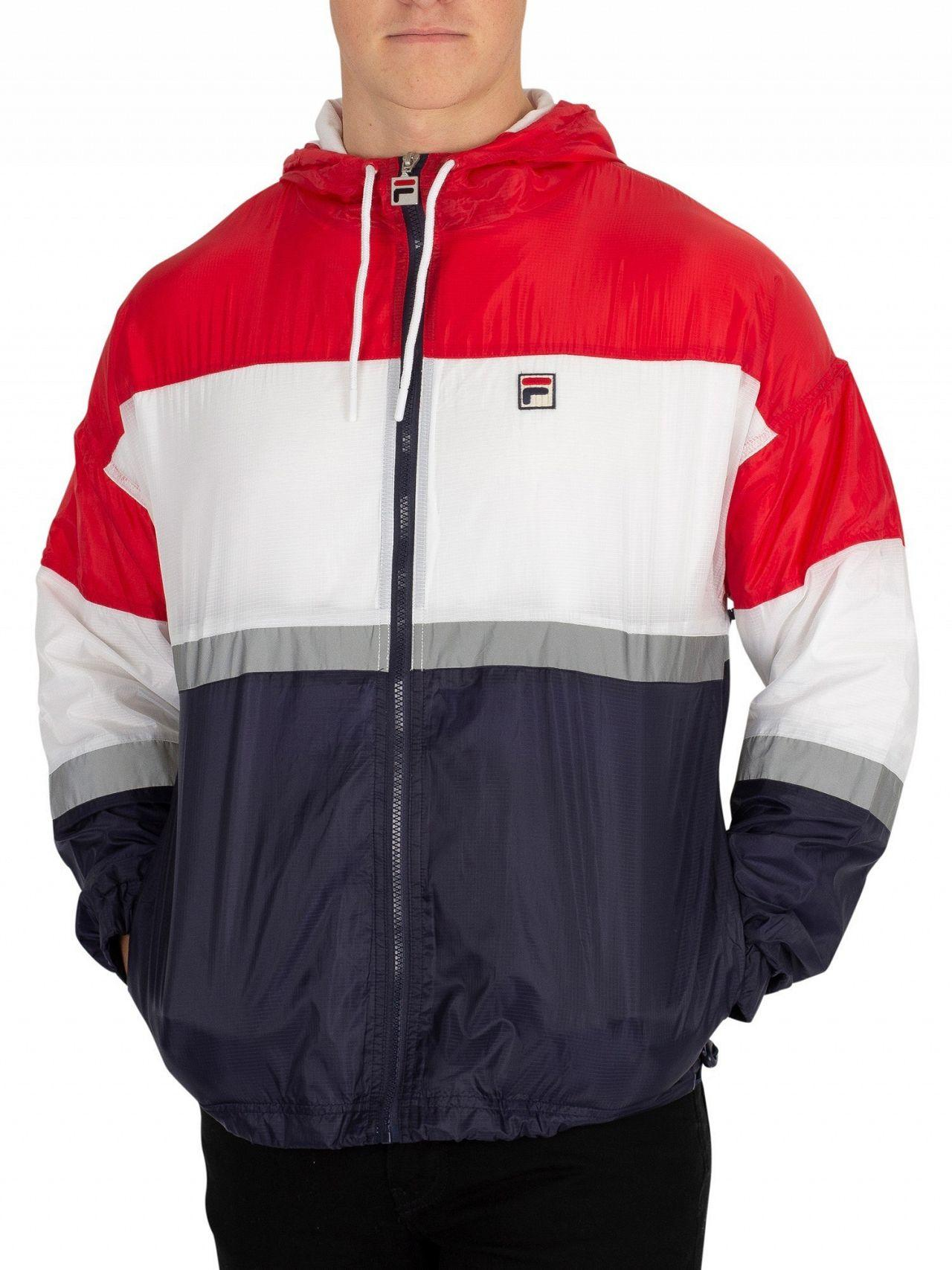 16a8f24b6 Fila Red/peacoat/white Cedric Rain Jacket in Red for Men - Lyst