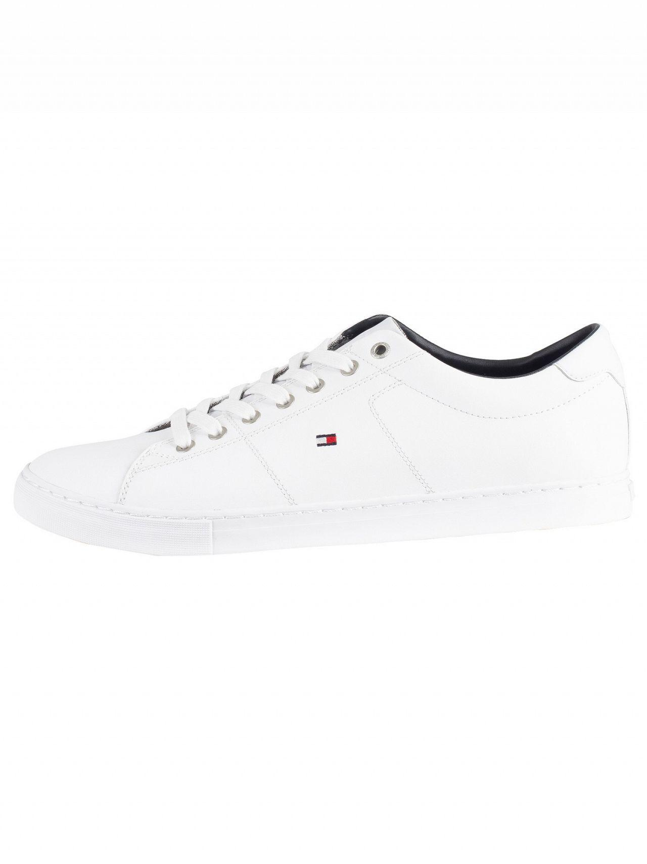 29a58f7f7d92 Lyst - Tommy Hilfiger White Essential Leather Trainers in White for Men
