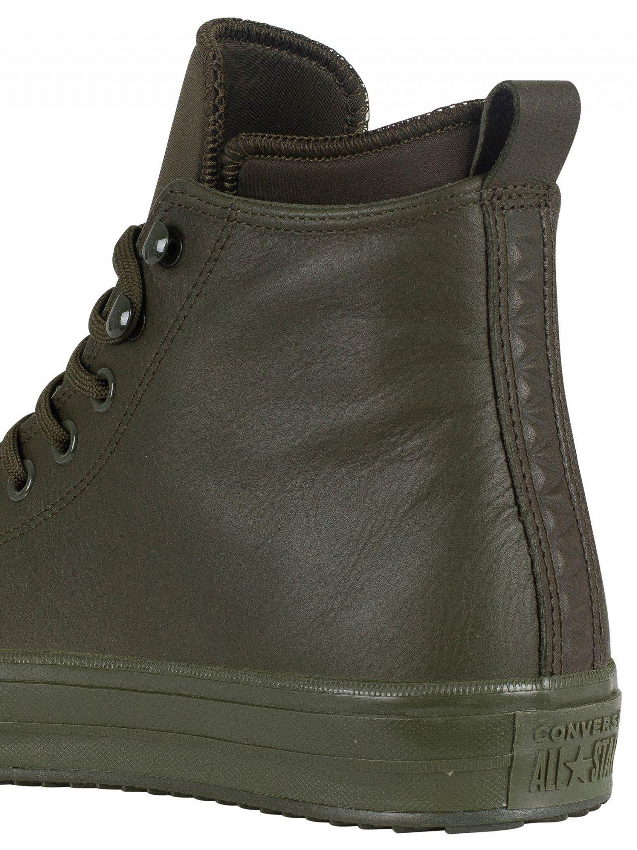 a7baebb959bf31 Lyst - Converse Utility Green Ct All Star Hi Wp Leather Boots in ...