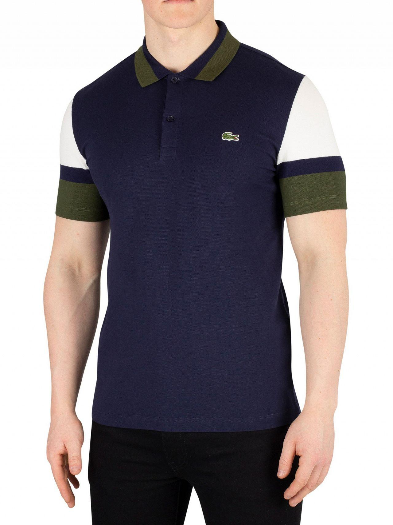 71ad0e1daba Lyst - Lacoste Blue Marine Slim Fit Poloshirt in Blue for Men